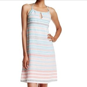 Tommy Bahama Kohala Linen Striped Halter Dress